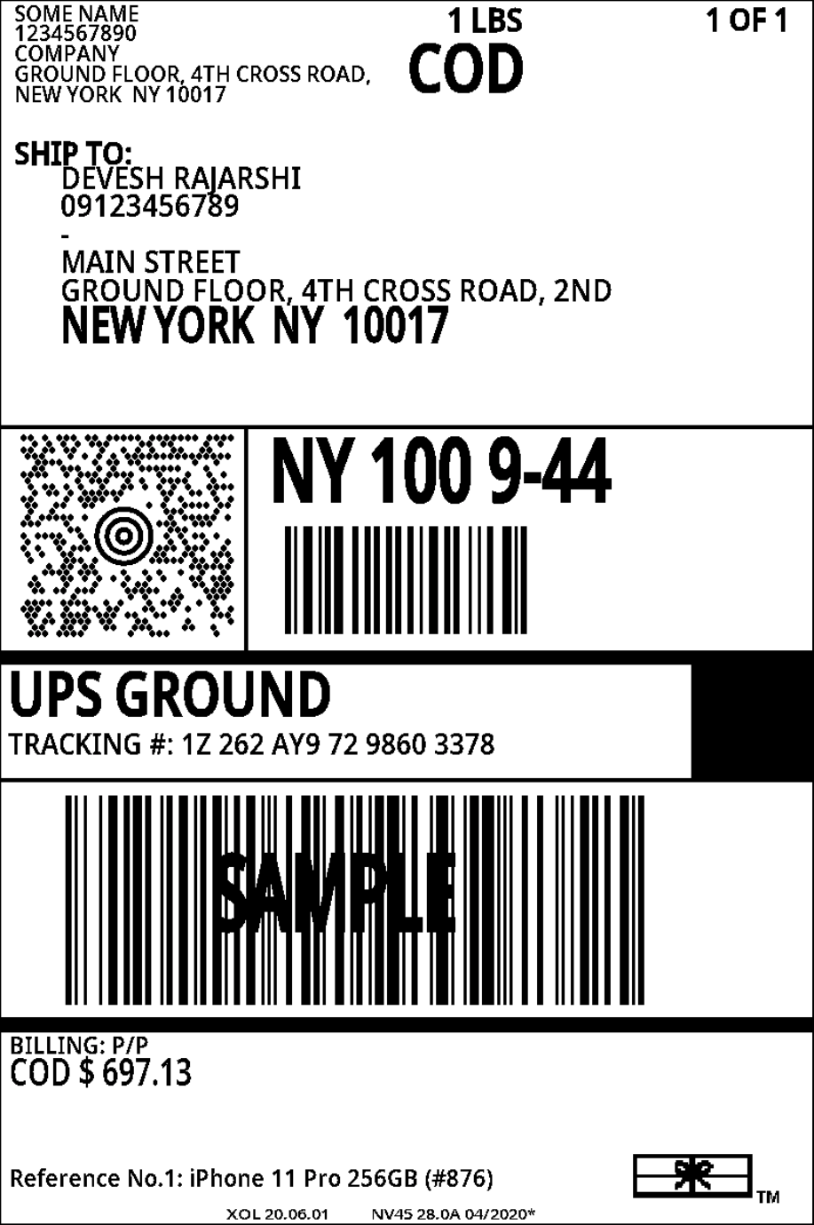 4x6 ups shipping label