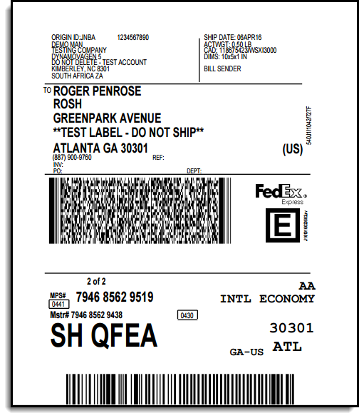 fedex woocommerce shipping label