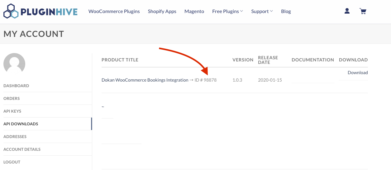 download plugin with product ID