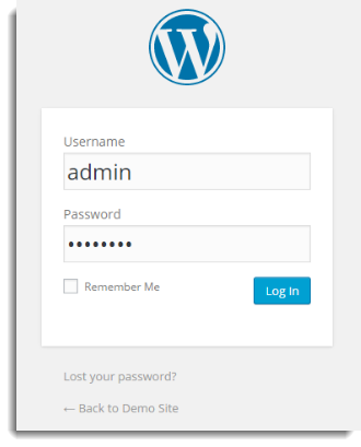 Enter into WordPress