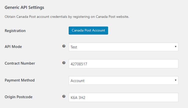 Canada Post API