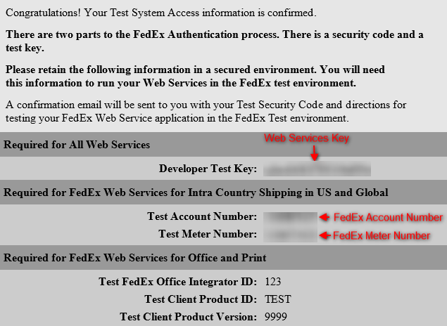 FedEx credentials