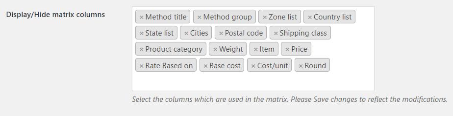 Matrix Columns