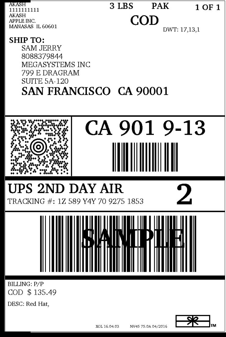 UPS Shipping label3
