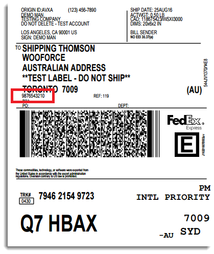 shipping label with tracking