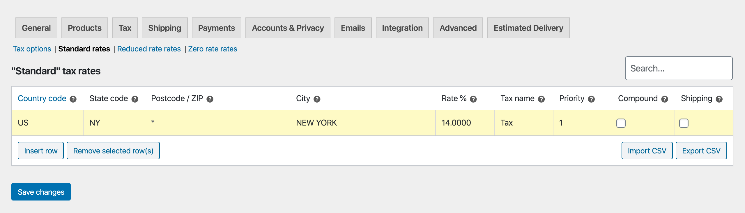 exclude woocommerce cost from tax calculation