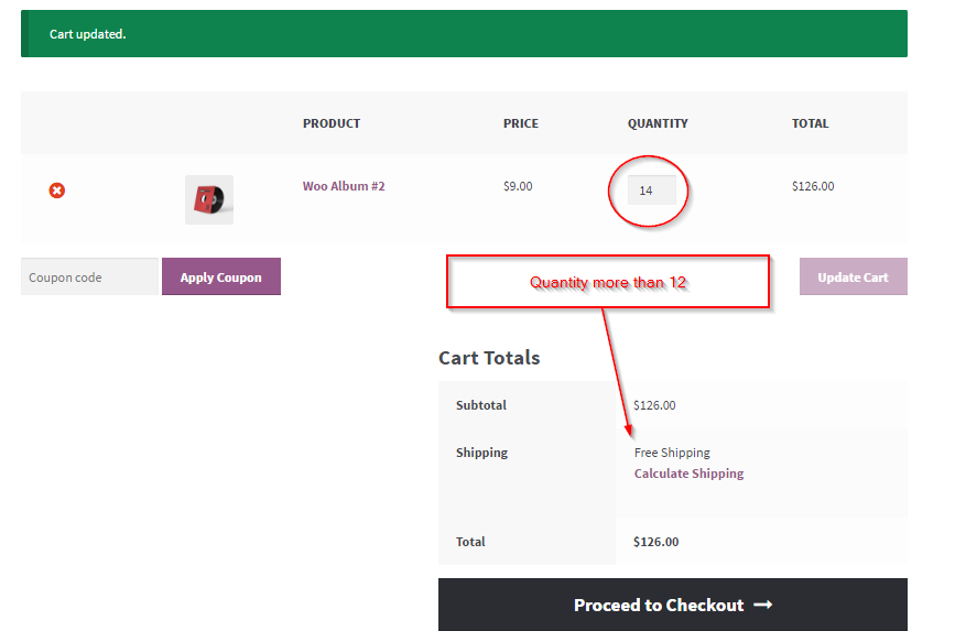 Show/Hide Free woocommerce Shipping