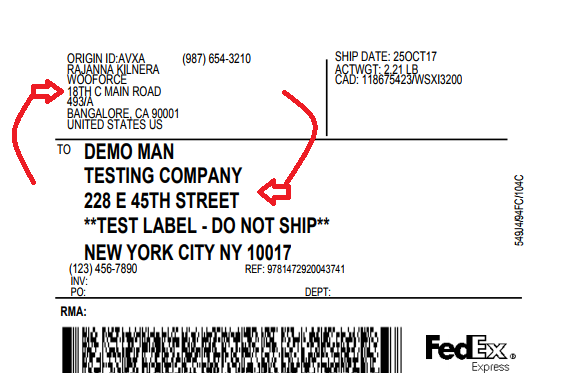 fedex shipping address