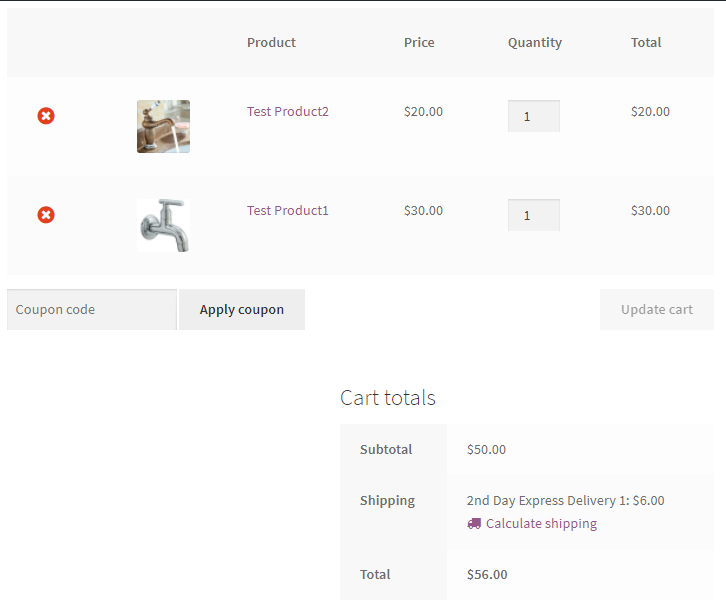 woocommerce free shipping along with calculated shipping rates