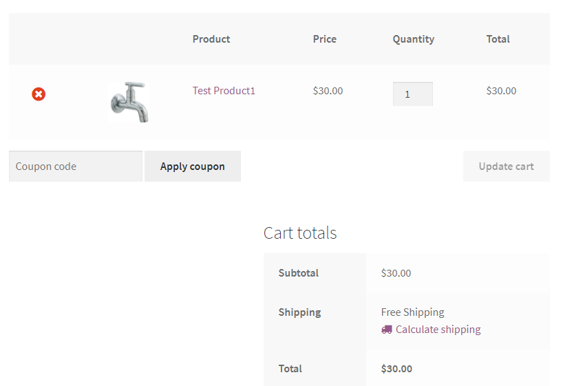 woocommerce free shipping products