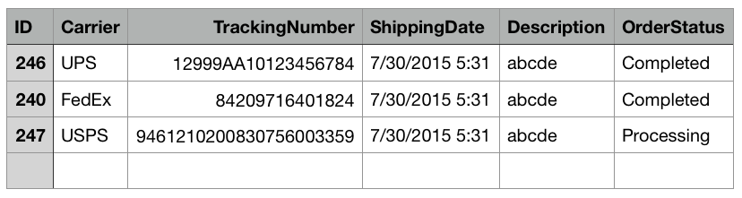 woocommerce shipment tracking csv file