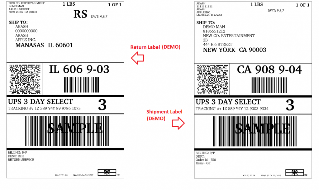 Generate UPS Return Label for your WooCommerce Shipment