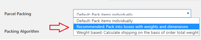 packing algorithm