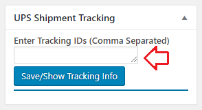 manual woocommerce ups shipment tracking update
