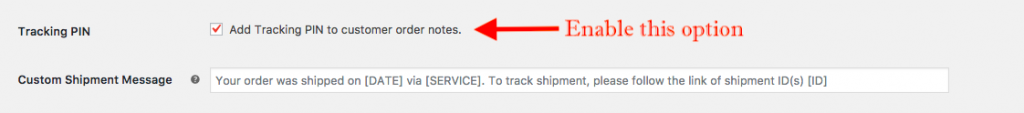 shipment tracking details
