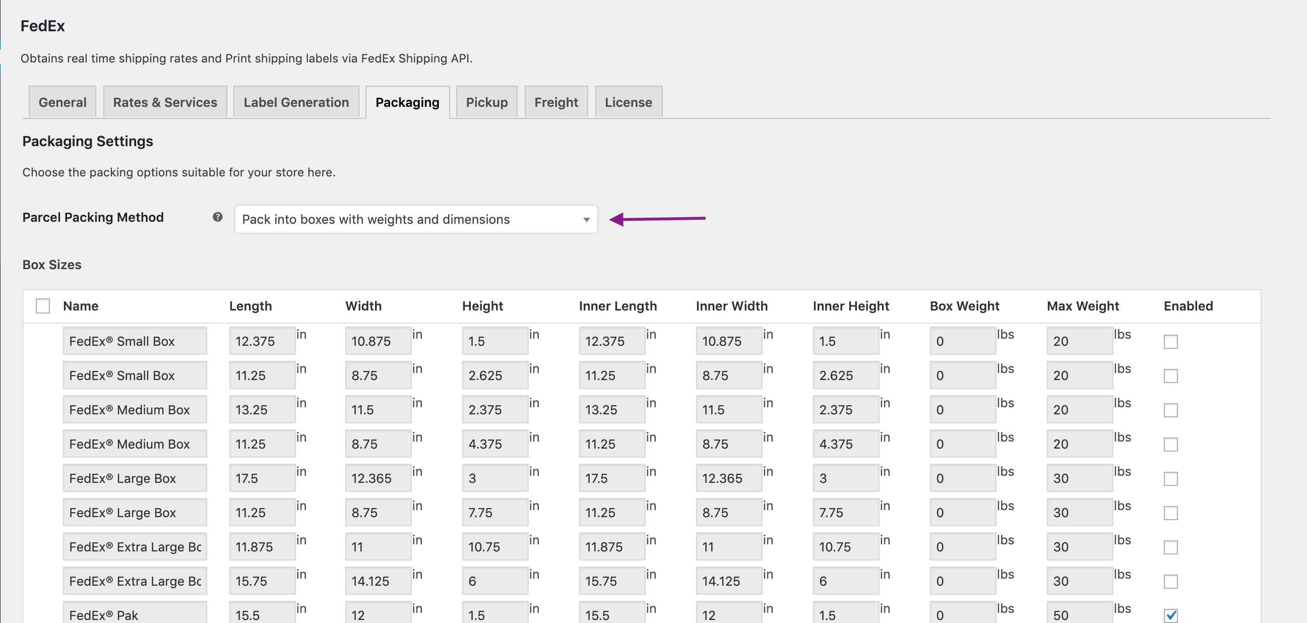Understanding FedEx WooCommerce Shipping Plugin Packing