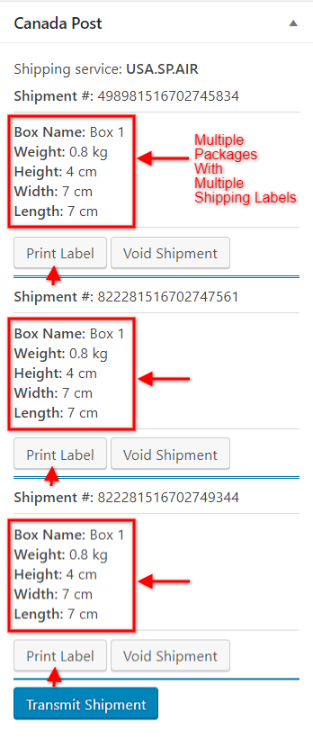 Print Shipping Labels for Multiple Packages using