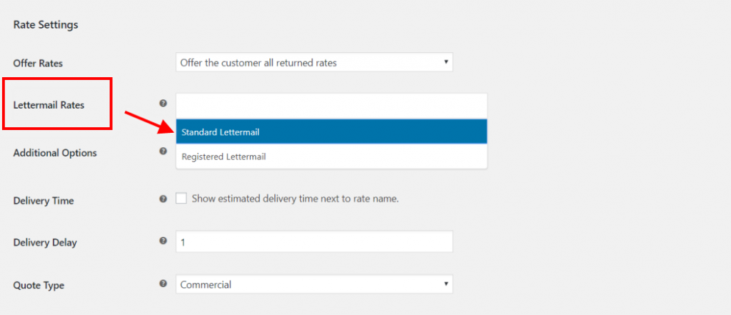Lettermail services