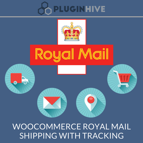 WooCommerce royal mail shipping with tracking logo