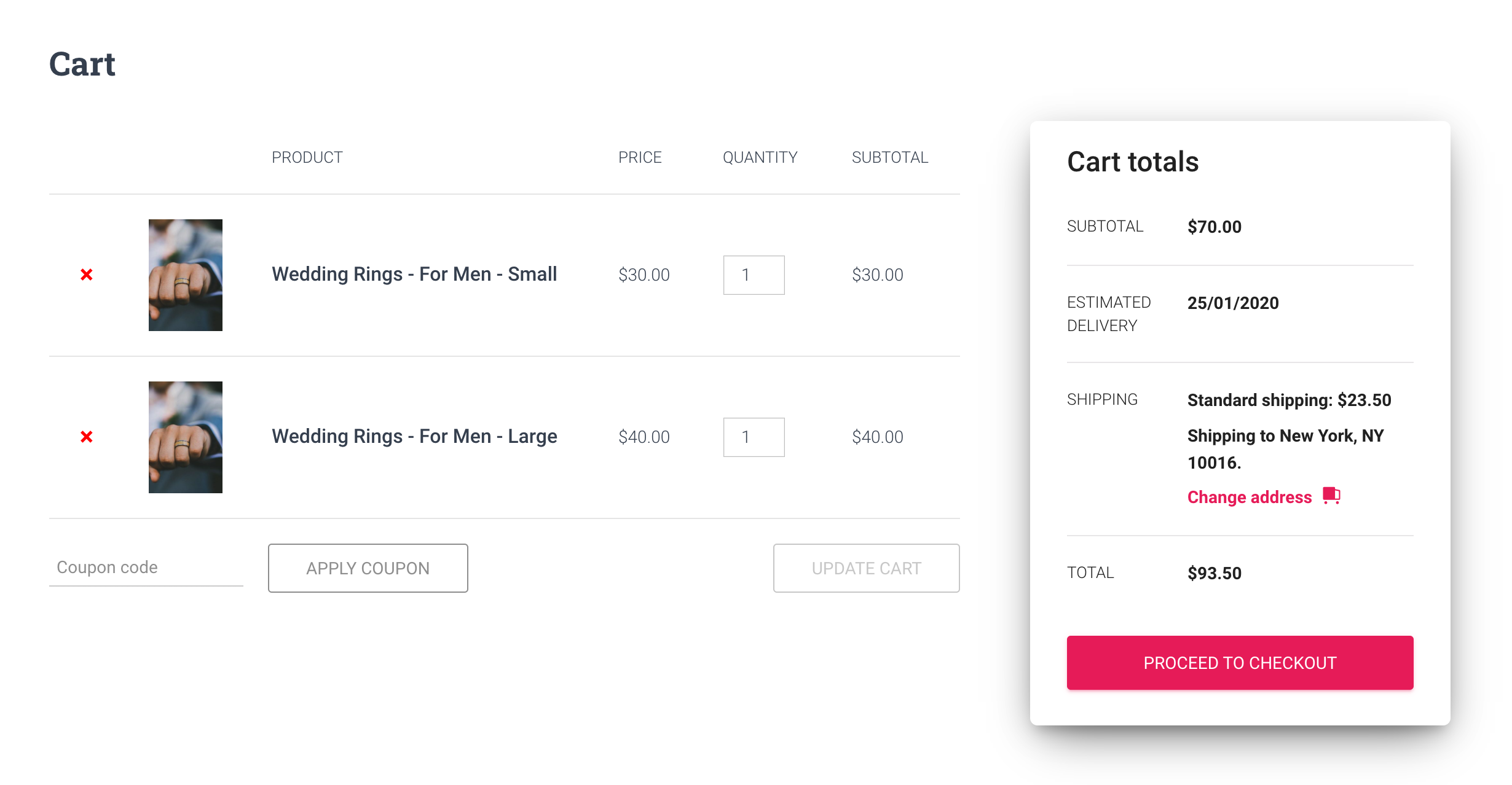 estimated delivery dates for woocommerce product variations