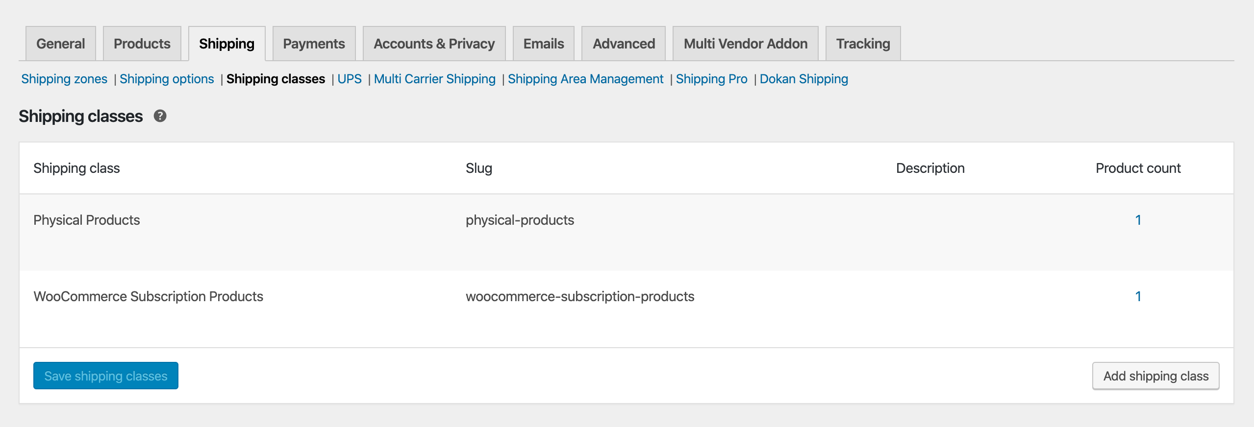 woocommerce subscription products