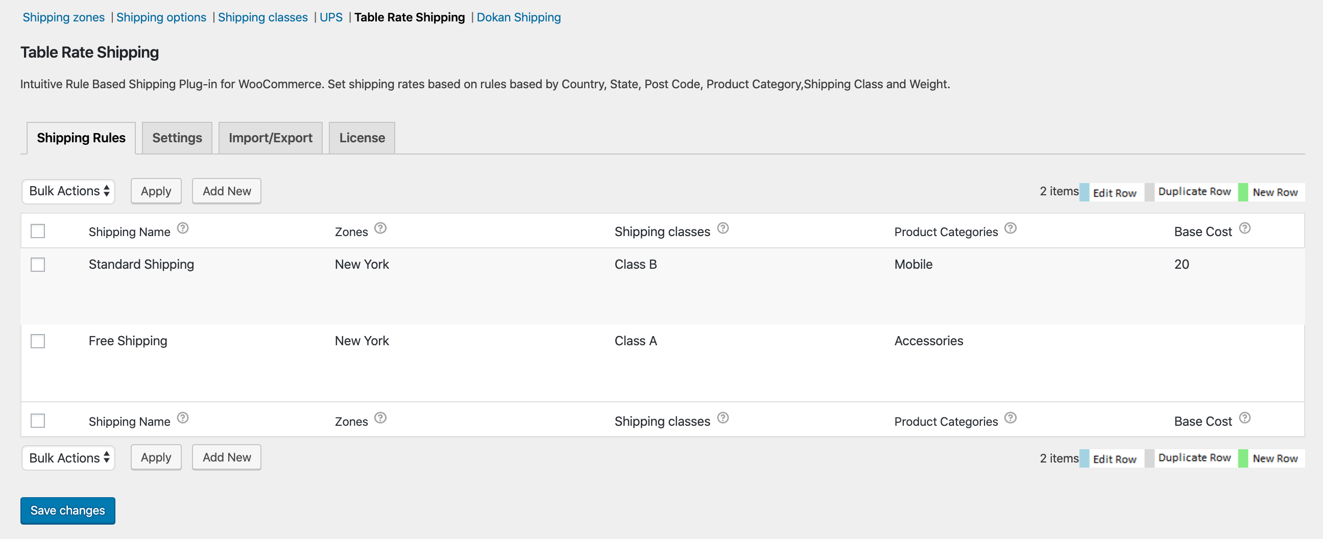 woocommerce table rate shipping plugin settings
