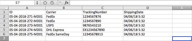 Bulk import woocommerce shipment tracking details