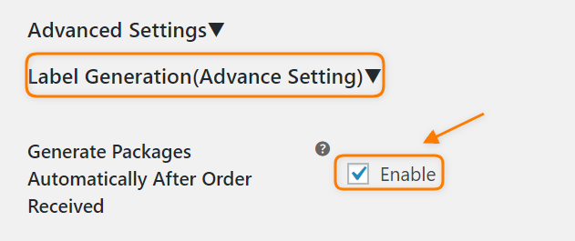 Advanced label settings