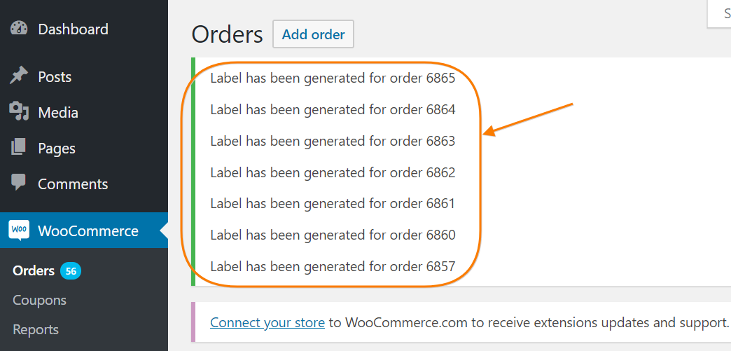 label generated