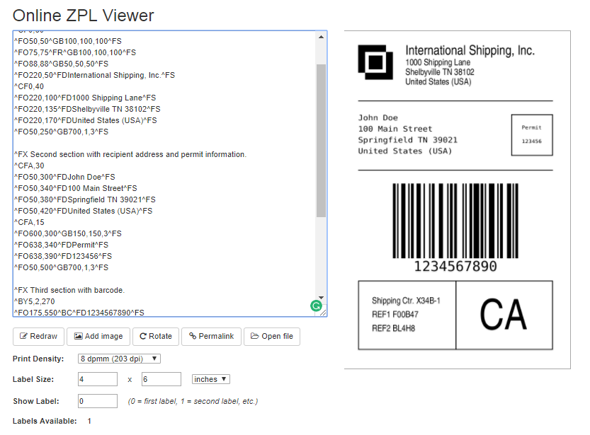 Different Shipping Label File Formats Supported by