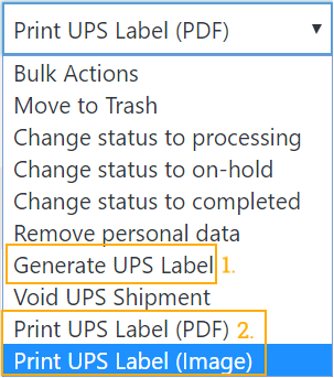 print shipping labels in PDF and PNG