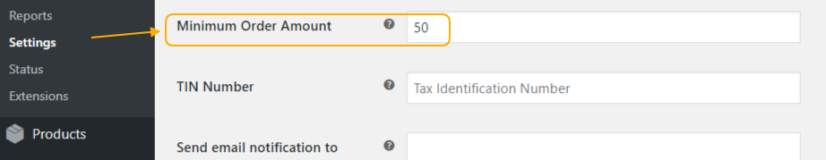 woocommerce minimum order amount