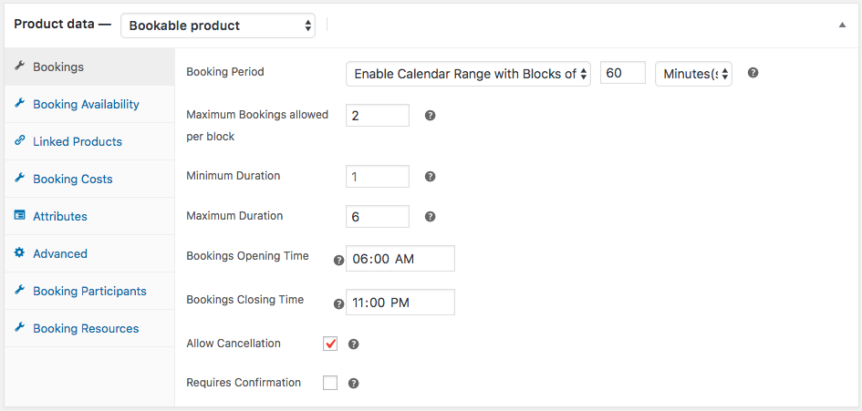 WooCommerce bookings and Appointments