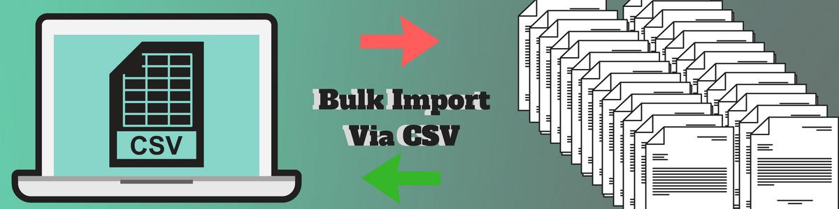 Bulk Import Via CSV