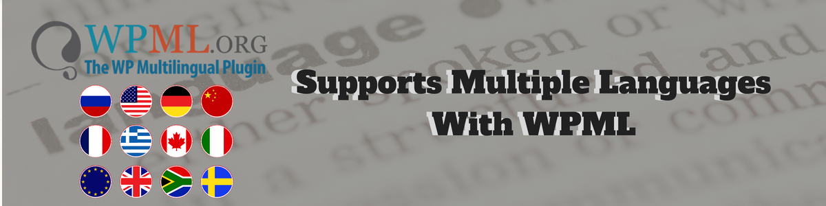 Supports Multiple Languages With WPML