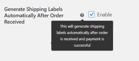 Generate Shipping Labels automatically