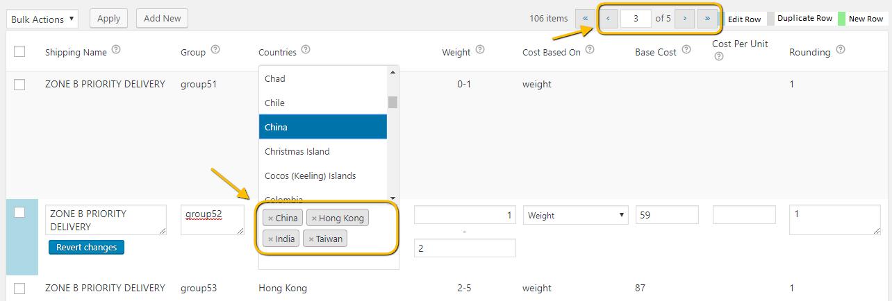 Modifying an existing shipping rule
