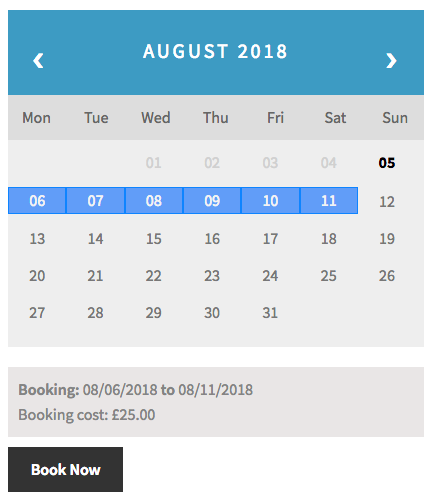 WooCommerce Bookings costs