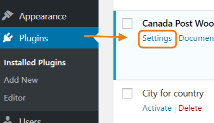 Canada-Post-Plugin-Settings