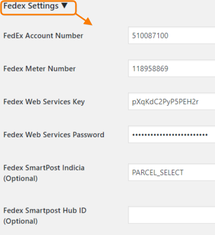 Configure FedEx Account to get Real-time Shipping Rates