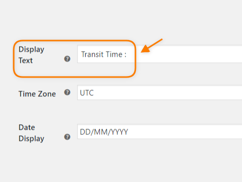 Customize the Delivery Estimate Text