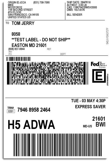 Official FedEx Shipping Labels