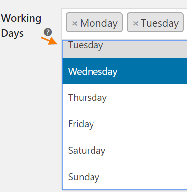 Select-your-own-working-days