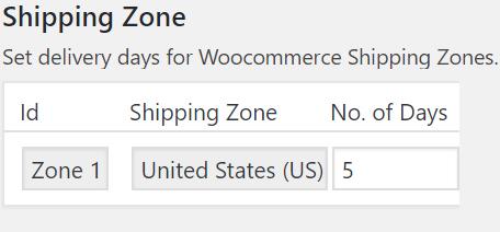 Shipping-zone