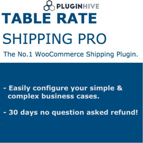 WooCommerce Table Rate Shipping Pro Plugin
