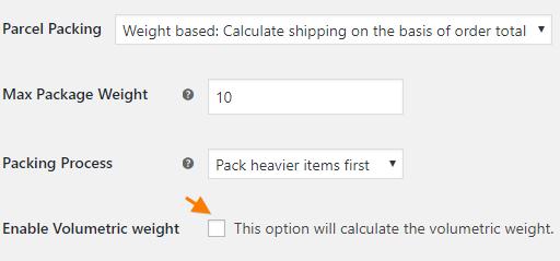 Volumetric-weight