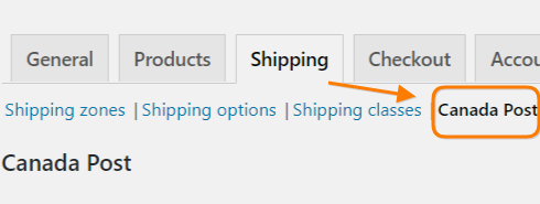 Where to find WooCommerce Canada Post Shipping Plugin Settings