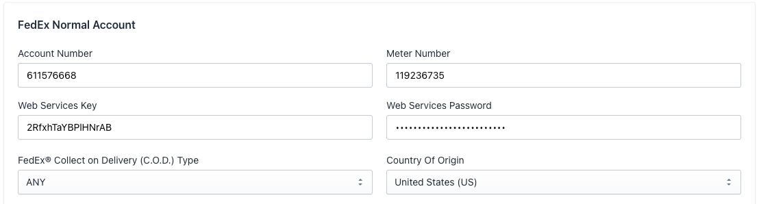 FedEx_account_details_added_in_app