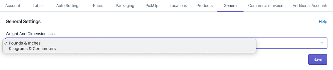Shopify FedEx general setting