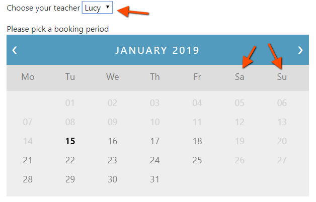 Lucy's availability